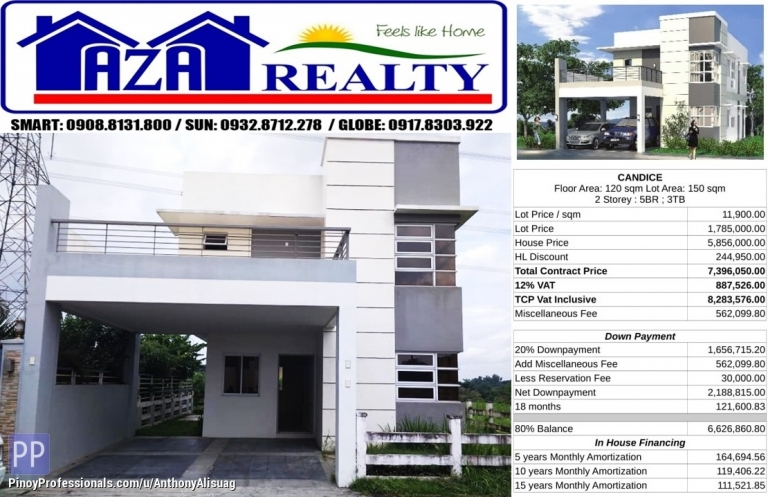 House for Sale - Php 30K Reservation Fee 5BR Single Detached Candice Metrogate San Jose Bulacan