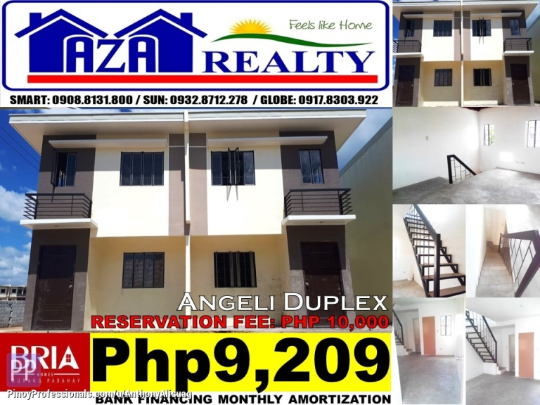 House for Sale - Php 10K Reservation Fee 2BR Duplex Angeli Bria Homes Santa Maria Bulacan