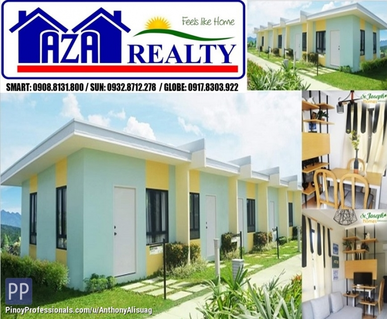 House for Sale - Php 3K Reservation Fee Rowhouse Amyra Saint Joseph Homes Norzagaray Bulacan