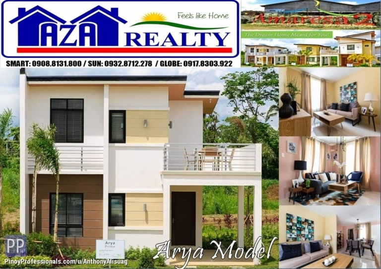 House for Sale - Php 20K Reservation Fee 3BR Single Attached Arya Prime Amaresa 2 San Jose Del Monte Bulacan
