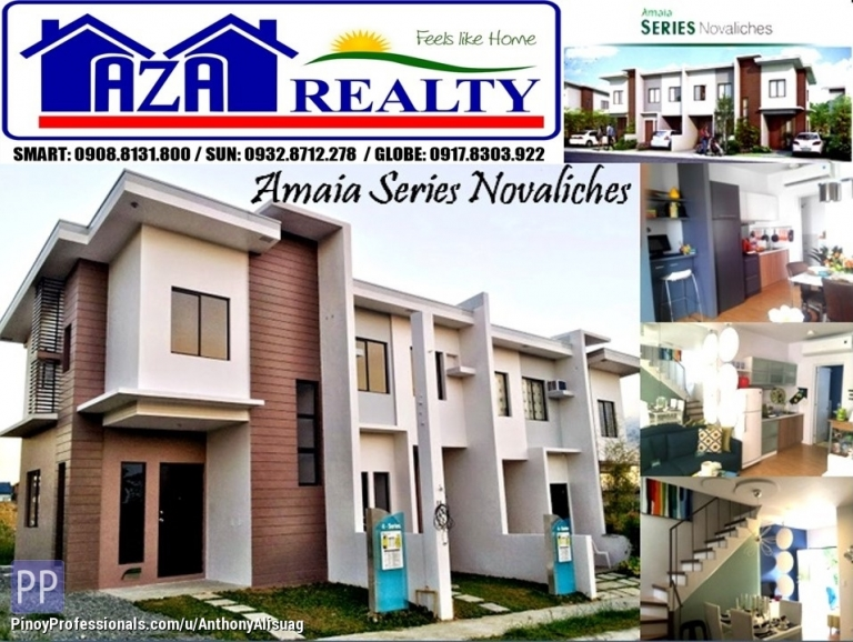 House for Sale - Php 25K Reservation Fee 3BR Townhouse Amaia Series Novaliches Quezon City