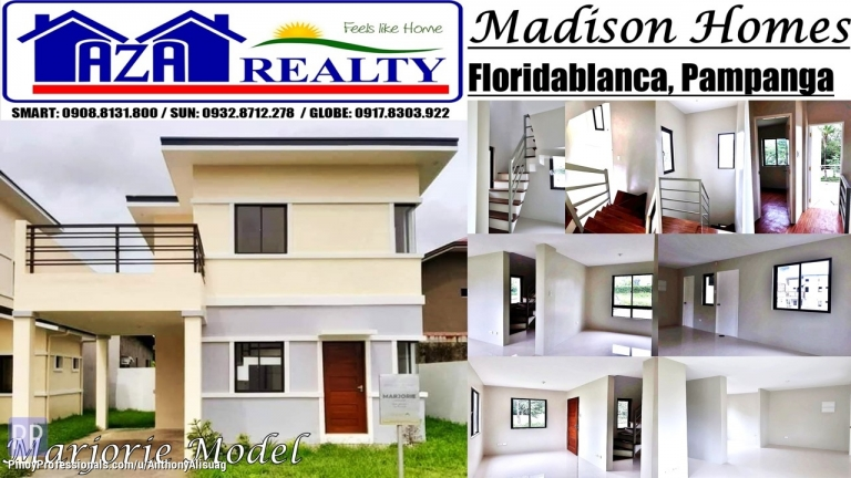 House for Sale - Php 20,000 Reservation Fee 3BR Marjorie Madison Homes Pampanga