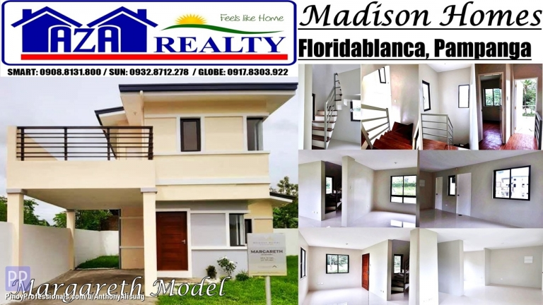House for Sale - Php 20,000 Reservation Fee 3BR Margareth Madison Homes Pampanga