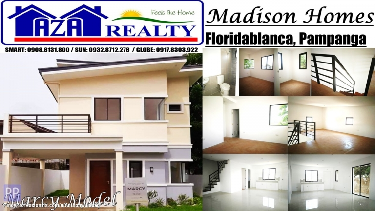 House for Sale - Php 20,000 Reservation Fee 3BR Marcy Madison Homes Pampanga