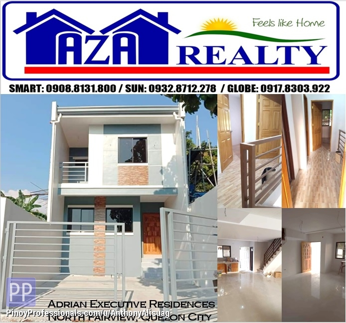 House for Sale - Php 30K Reservation Fee Ready For Occupancy 3BR Townhouse Adria Executive Residence North Fairview Quezon City