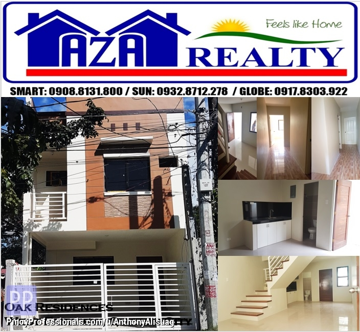House for Sale - Ready For Occupancy 3BRTownhouse Oak Residence West Fairview Quezon City