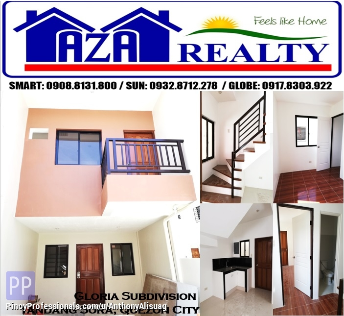 House for Sale - Ready For Occupancy 3BR Townhouse Gloria Residence Tandang Sora Quezon City