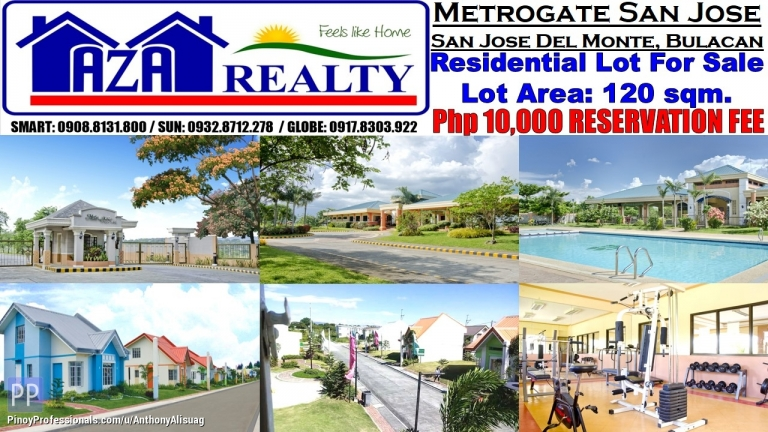 Land for Sale - Php 10K Reservation Fee Metrogate San Jose Lot 120sqm. Bulacan