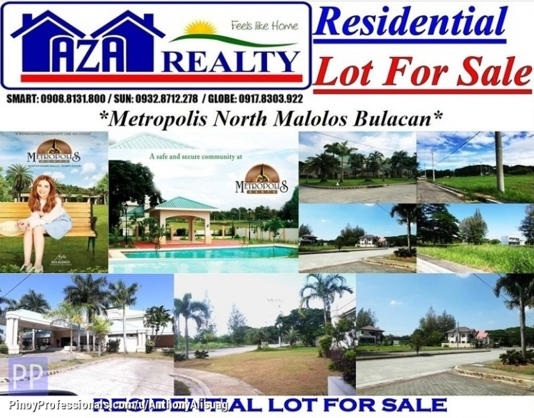 House for Sale - Php 7,500/sqm. Lot Only 72sqm.Metropolis North Malolos Bulacan