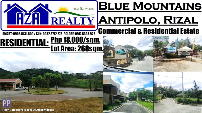 Land for Sale - Blue Mountains Vacant Property 268sqm. Antipolo Rizal