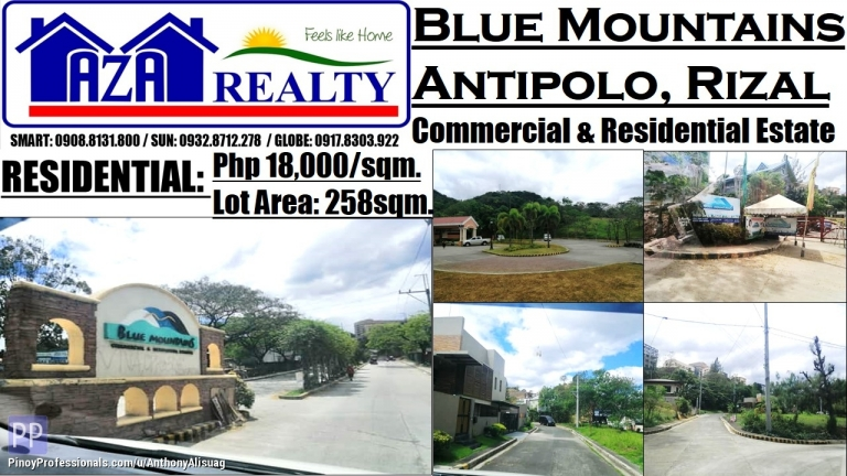 Land for Sale - Blue Mountains Residential Land 258sqm. Antipolo Rizal