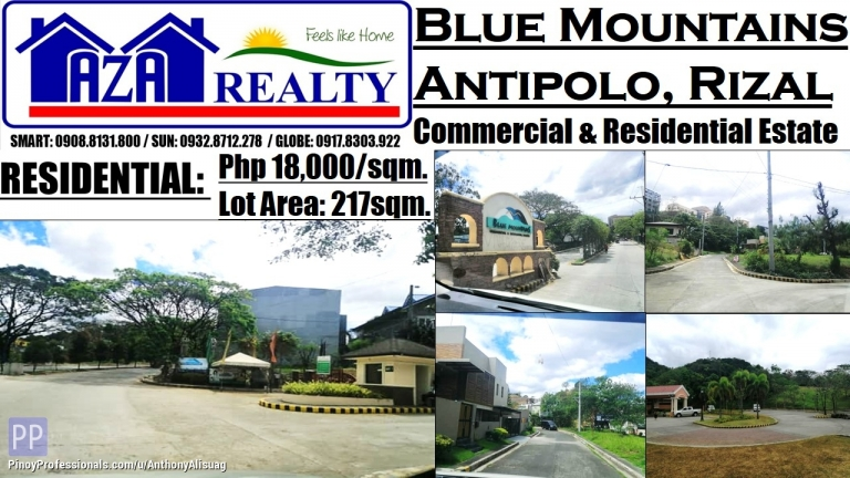 Land for Sale - Blue Mountains Lot Only 217sqm. Antipolo Rizal