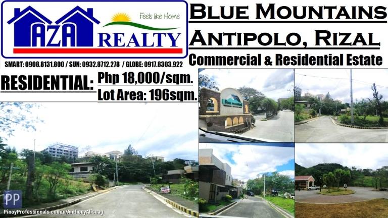 Land for Sale - Blue Mountains Residential Estates 196sqm. Antipolo Rizal