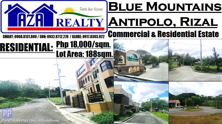 Land for Sale - Blue Mountains Property Lot Only 188sqm. Antipolo Rizal