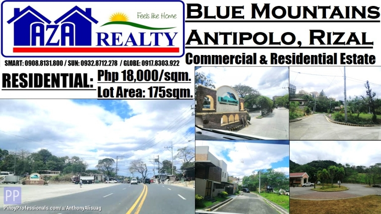 Land for Sale - Blue Mountains Residential Estates Lot Area 175sqm. Antipolo Rizal