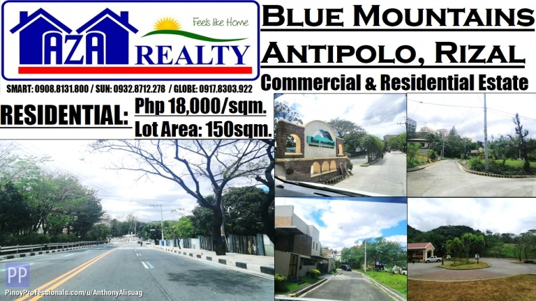 Land for Sale - Blue Mountains Residential Estates Lot Area 150sqm. Antipolo Rizal