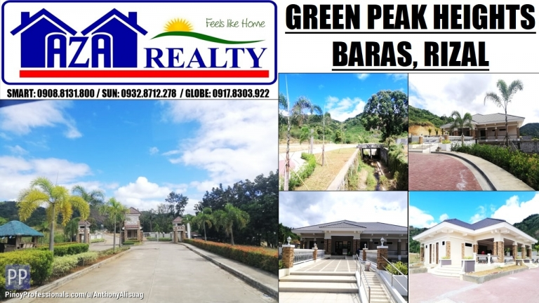 Land for Sale - Php 8,000/sqm. Residential Lot 150sqm. Green Peak Heigts Baras Rizal