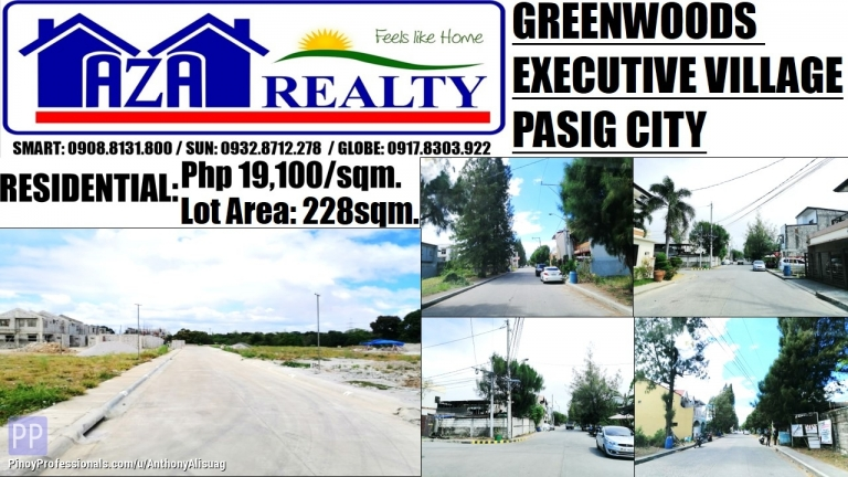 Land for Sale - Greenwoods Executive Village Land For Sale 228sqm. Pasig City