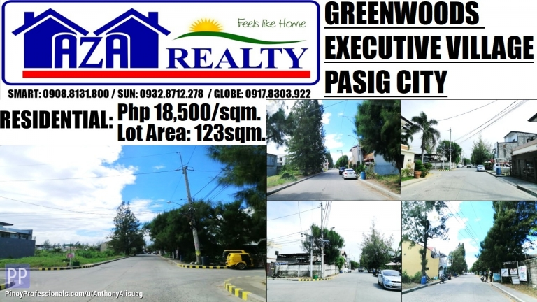 Land for Sale - Greenwoods Executive Village Lot Only 123sqm. Pasig City