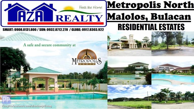 Land for Sale - Php 8,000/sqm. Vacant Lot 176sqm. Metropolis North Malolos Bulacan