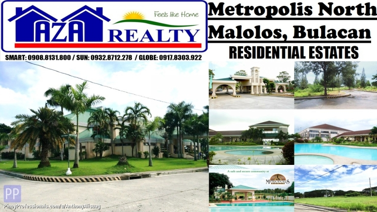 Land for Sale - Vacant Property 166sqm. Php 8,000/sqm. Metropolis North Malolos Bulacan