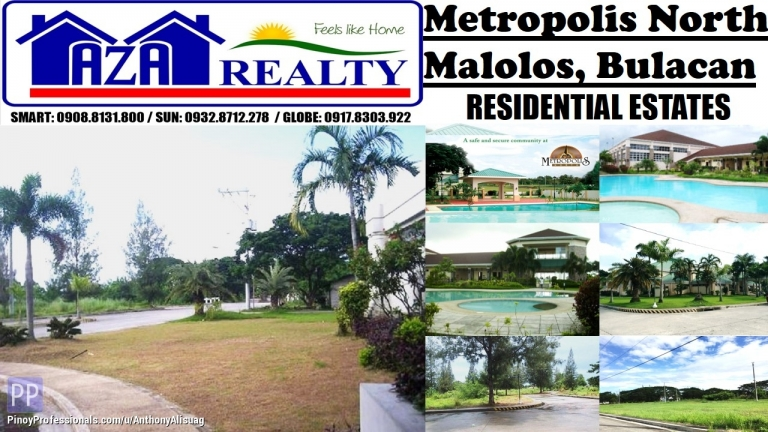 Land for Sale - Php 8,000/sqm. Property Lot For Sale 122sqm. Metropolis North Malolos Bulacan