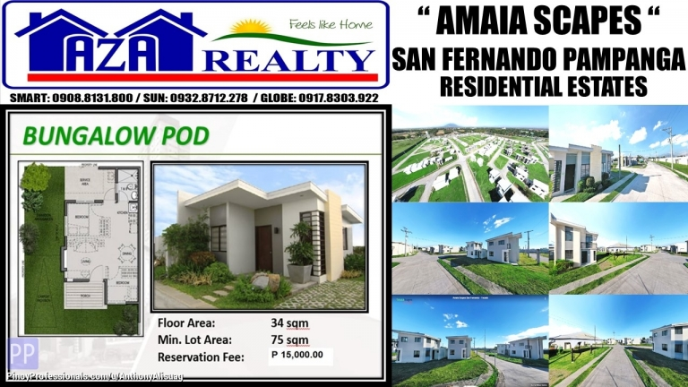 House for Sale - Php 15K Reservation Bungalow Pod 75sqm. Amaia Scapes San Fernando Pampanga