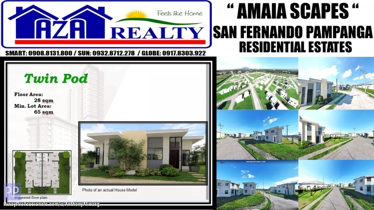 House for Sale - Php 15K Reservation Twin Pod 65sqm. Amaia Scapes San Fernando Pampanga