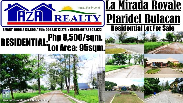 Land for Sale - Residential Lot 95sqm. at Php 8,500/sqm. La Mirada Royale Plaridel Bulacan
