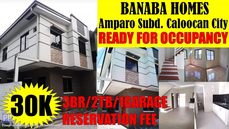 House for Sale - 3BR Townhouse Banaba Homes Amparo Caloocan City