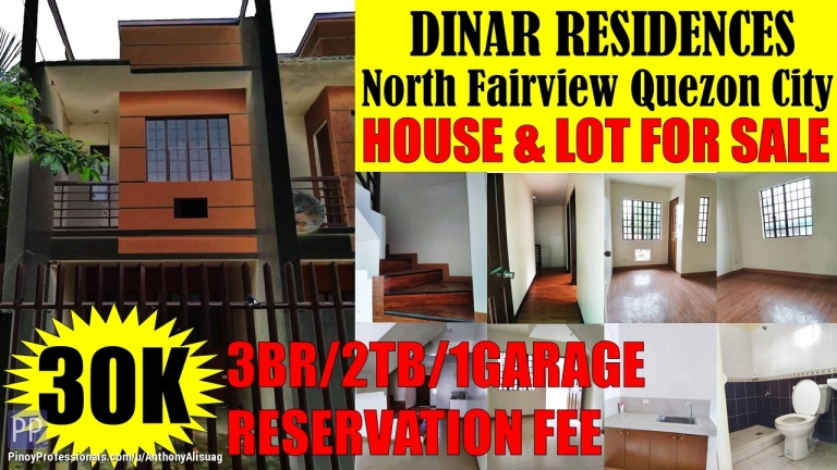 House for Sale - 3BR Townhouse Dinar Residences North Fairview Quezon City