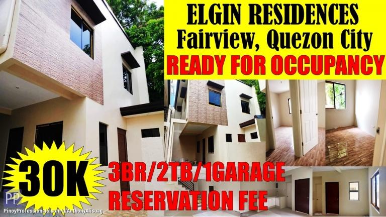 House for Sale - 3BR Single Attached Elgin Residences Fairview Quezon City