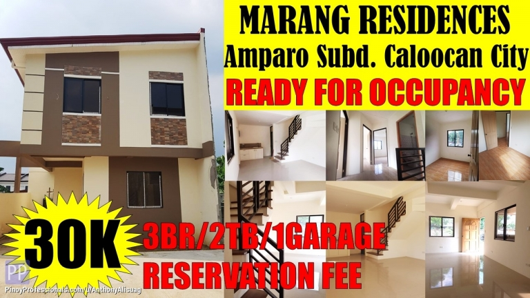 House for Sale - 3BR Single Attached Marang Residences Amparo Caloocan City