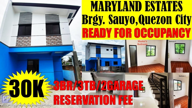 House for Sale - 3BR Single Attached Maryland Estate Sauyo Quezon City