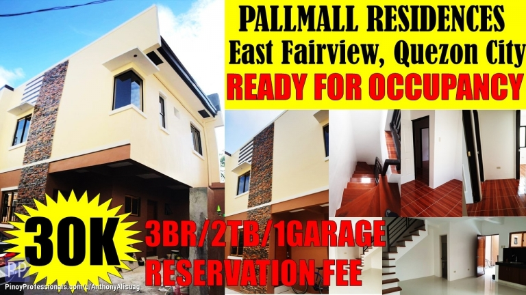 House for Sale - 3BR Single Attached Pallmall Residences East Fairview Quezon City