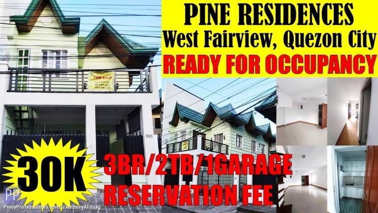 House for Sale - 3BR Single Attached Pine Residences West Fairview Quezon City