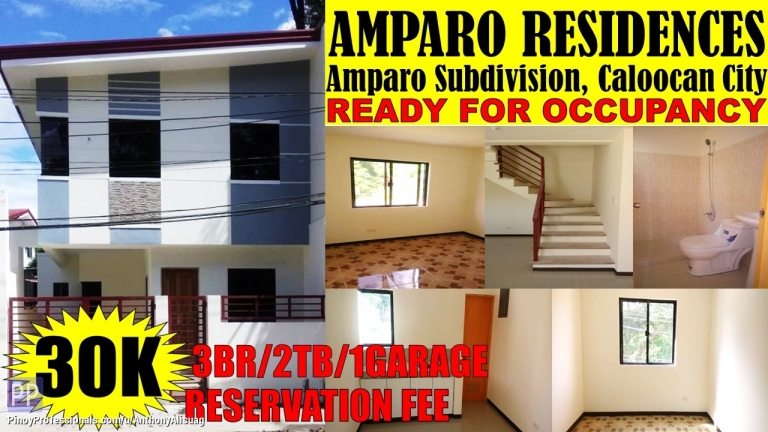House for Sale - 3BR Single Attached Makabud Residences Amparo Caloocan City