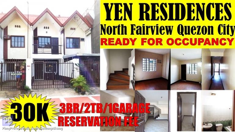 House for Sale - 3BR Townhouse Yen Residences North Fairview Quezon City