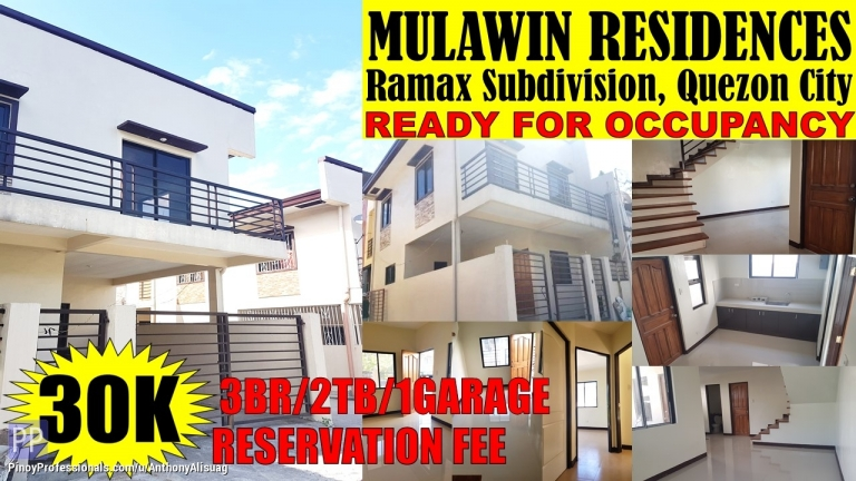 House for Sale - 3BR Single Attached Mulawin Residences Diliman Quezon City