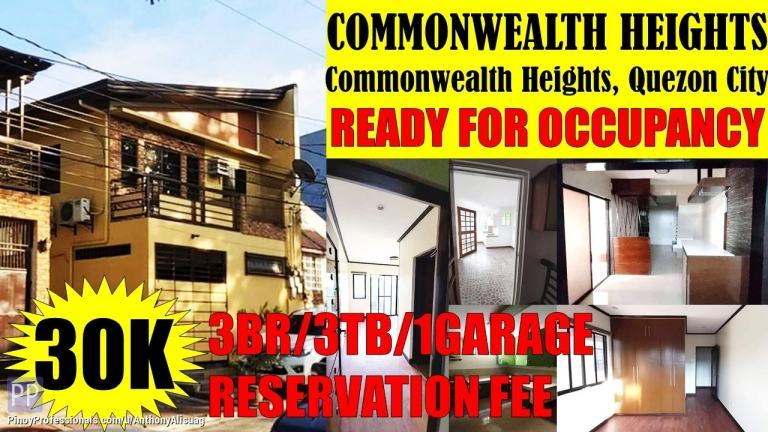 House for Sale - 3BR Single Attached Commonwealth Heights Quezon City