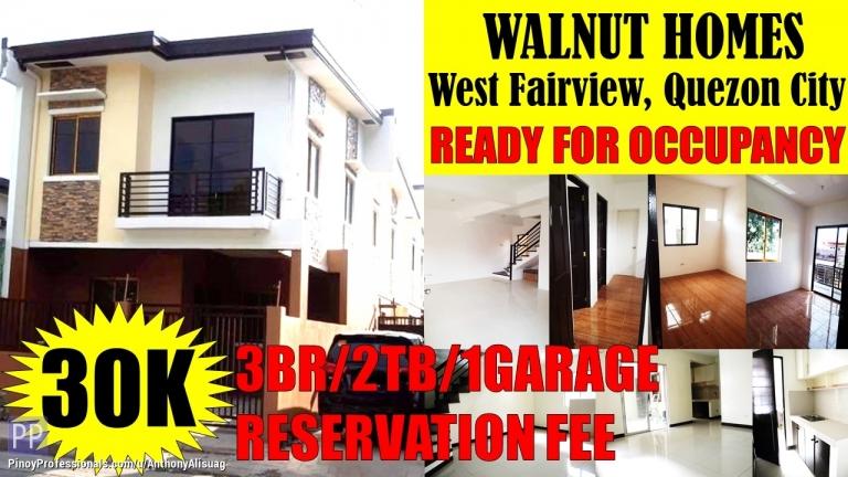 House for Sale - 3BR Single Attached Walnut Homes West Fairview Quezon City