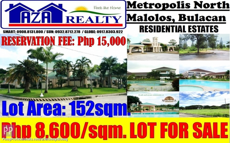 Land for Sale - Residential Estates Land For Sale 152sqm. Metropolis North Malolos Bulacan