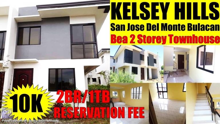 House for Sale - Townhouse 2BR 50sqm. Bea Kelsey Hills San Jose Del Monte Bulacan