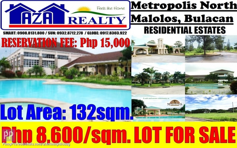 Land for Sale - Vacant Property For Sale 132sqm. Metropolis North Malolos Bulacan