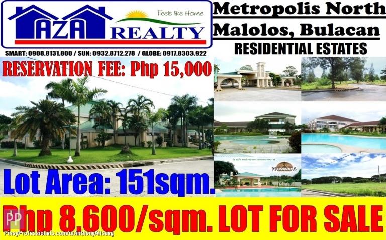 Land for Sale - Land For Sale 151sqm. Metropolis North Malolos Bulacan
