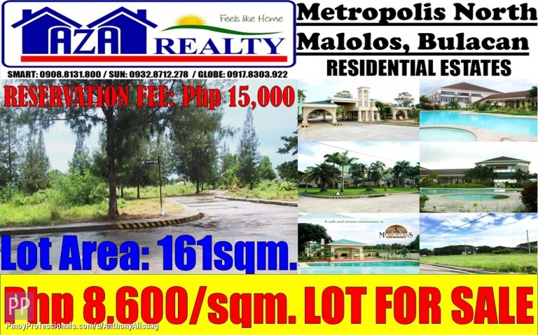 Land for Sale - Residential Land For Sale 161sqm. Metropolis North Malolos Bulacan