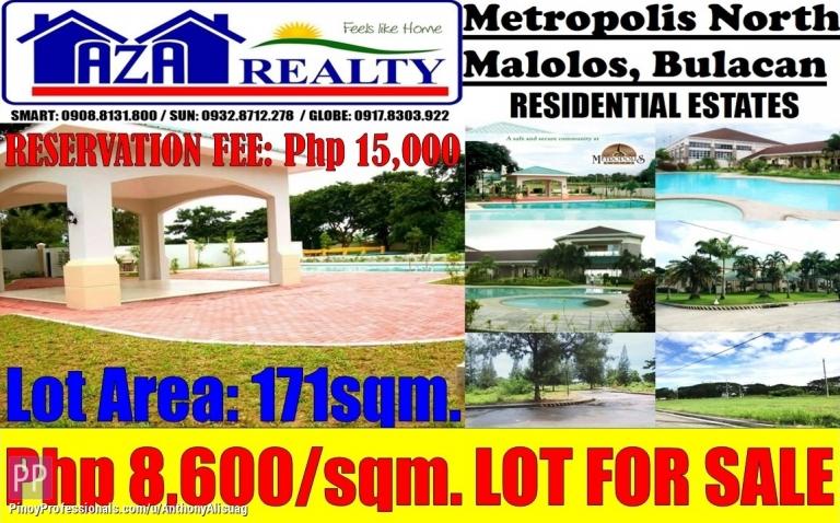 Land for Sale - 171sqm. Vacant Property Metropolis North Malolos Bulacan
