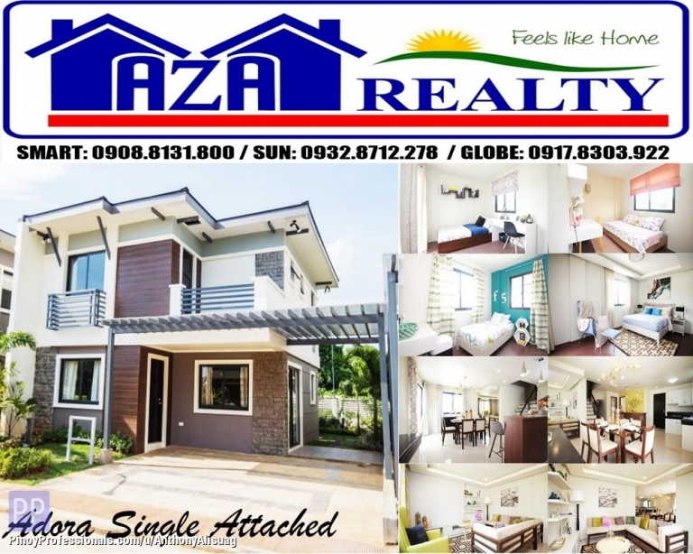 House for Sale - Php 26,713/Month 4BR Single Attached With 2 Car Garage Adora Alegria Residences in Bulacan