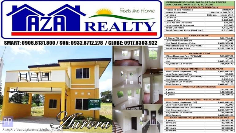 House for Sale - Metrogate San Jose 150sqm. 4BR Single Detached Aurora San Jose Del Monte Bulacan