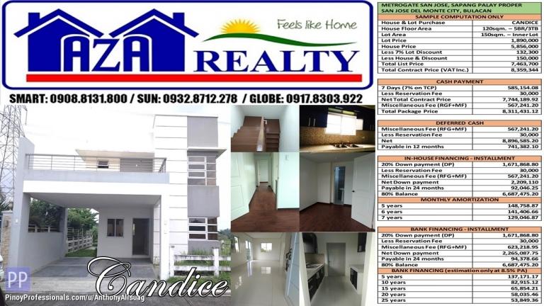 House for Sale - Metrogate San Jose 5BR Candice 150sqm. Single Detached San Jose Del Monte Bulacan